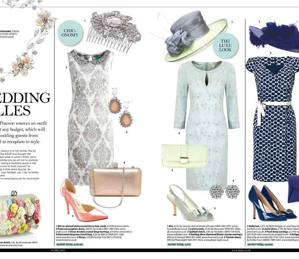 Wedding fashion in The Lady magazine
