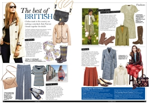 Best of British fashion for The Lady magazine