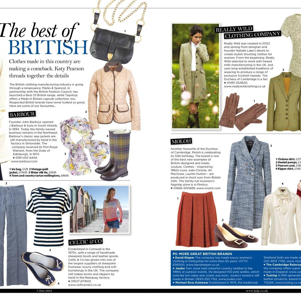 Best of British fashion for The Lady magazine