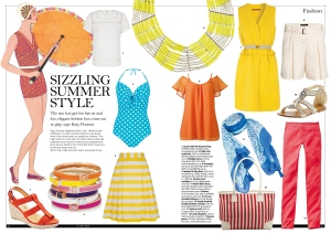 Sizzling Summer Style in The Lady magazine