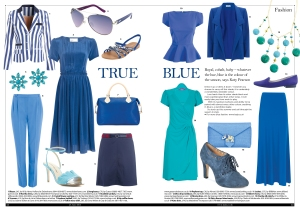 True blue fashion for The Lady magazine
