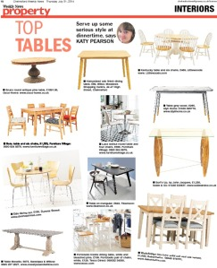 Top tables Katy Pearson