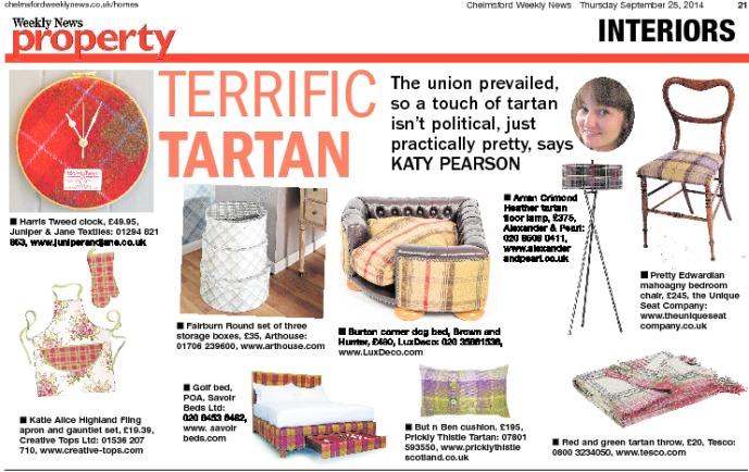 Tartan interiors Katy Pearson