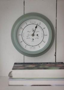 Tide clock in shutter blue, £50