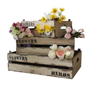 Set of Three Wooden Distressed Storage Crates, £24.95