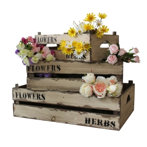 Set of Three Wooden Distressed Storage Crates, £24.95