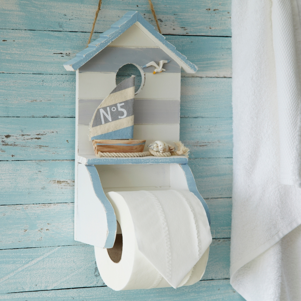 Nautical toilet roll holder