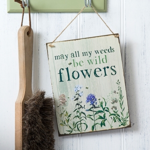 Weeds Tin Plaque, £6.75
