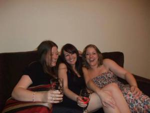 Laughing with Vicky Baker and our other friend Vicky Cole