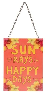 George Home Prince's Trust happy days hanging sign