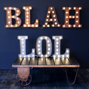 BLAH and LOL lights