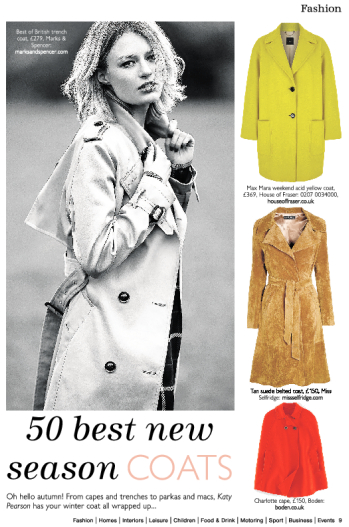 Life and Home in Essex magazine, Katy Pearson, fashion, coats