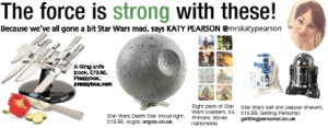 The Daily Gazette, Katy Pearson, interiors, Star Wars