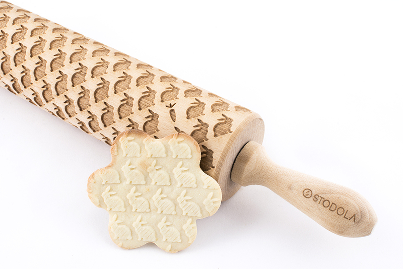 Embossing rolling pin, rabbit, What Katy Wants