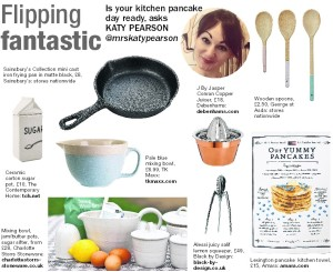 The Daily Gazette, pancake day, interiors, Katy Pearson