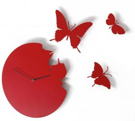 Butterfly Clock Red, Red Candy