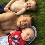 4.36pm: Three amigos! Sonny Jim with his cousins, Ethan and Carter