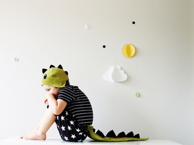 Sparrow and B children's costumes, Katy Pearson, Dino costume