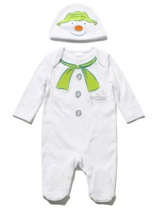 The Snowman sleepsuit and hat set
