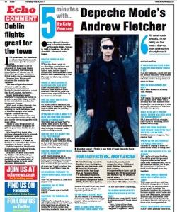Depeche Mode, Fletch, Andrew Fletcher, by Katy Pearson #whatkatydid