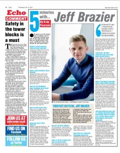 Jeff Brazier, Katy Pearson, #whatkatydid, the Echo newspaper, Essex