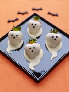 Strawberry ghosts, halloween, recipe, #WhatKatyDidUK