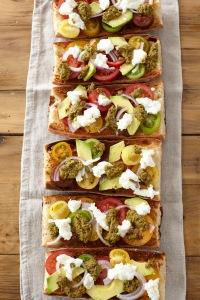 Speciality Tomatoes on Hot Garlic Bread with Pesto, #whatkatydidUK, recipe