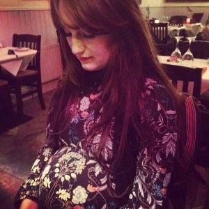 Katy Pearson, pregnant