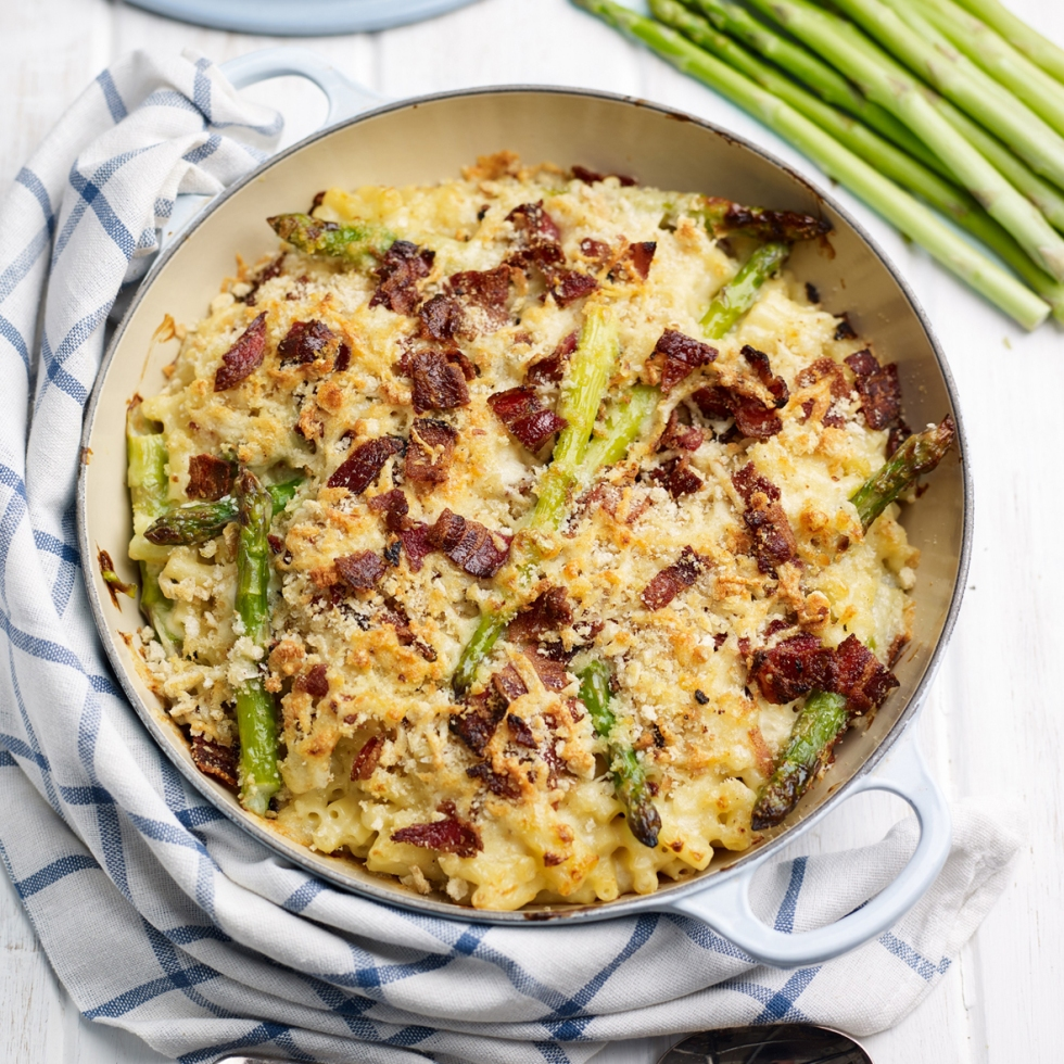 Asparagus Mac'n'Cheese with Bacon Crumble, #whatkatydidUK
