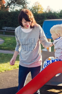 Sweatshirt (grey), £28, Do It Like A Mother pic (c) Photography by Petra
