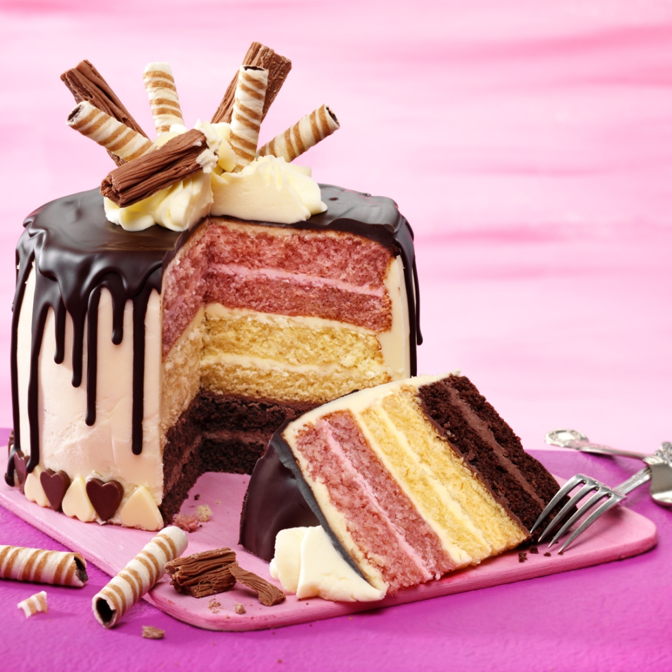 Recipe, Neapolitan Style Drip Cake