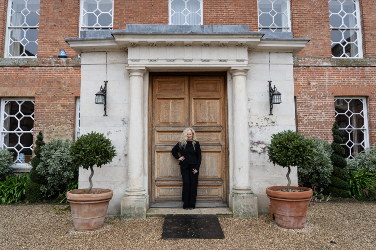 Debbie Bright at Braxted Park for Essex Living magazine